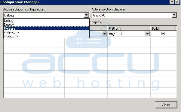 Screenshot of Configuration Manager setting