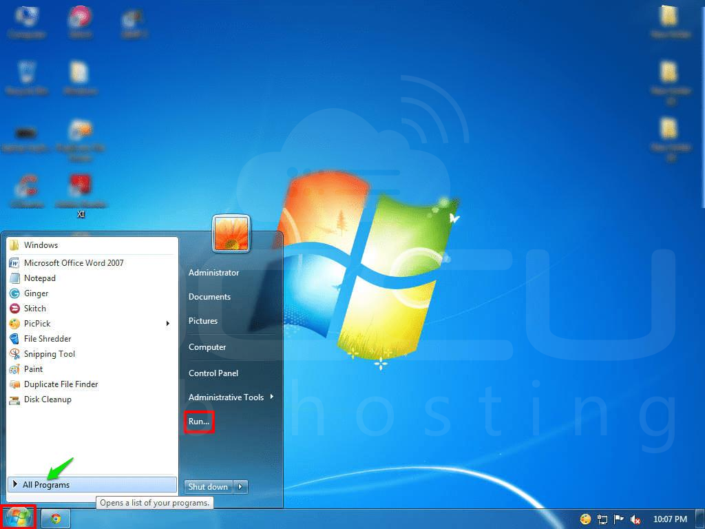 01-click-on-start-and-run-button-on-windows7