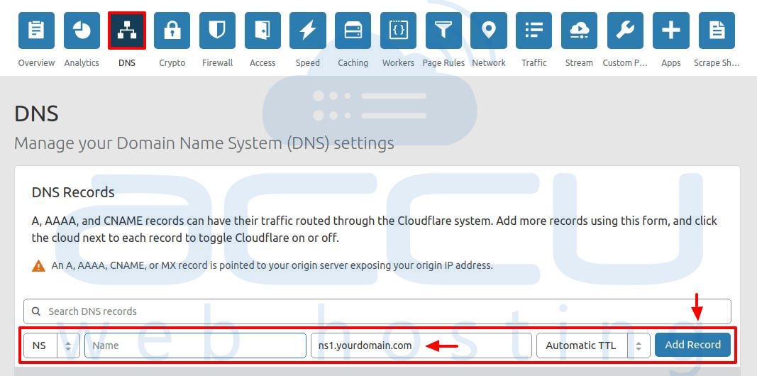 02-add-NS-record-in-cloudflare