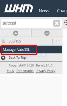 Manage auto ssl