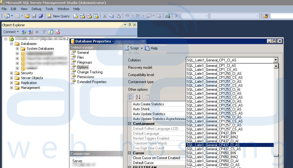 How to change Database Collation in MsSQL Server? - Knowledgebase
