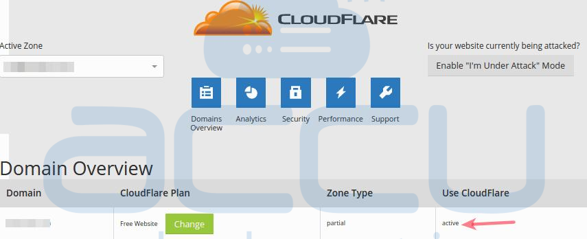 Enable CloudFlare