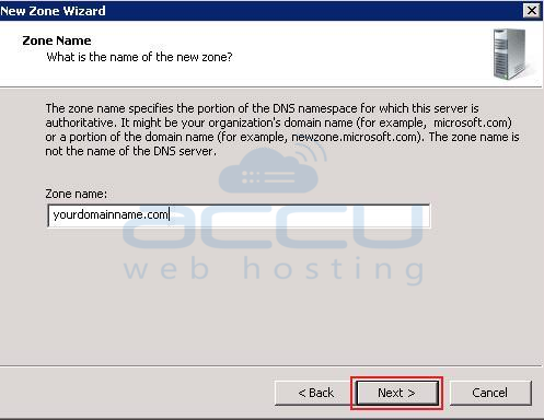 Specify Domain Name as Zone Name