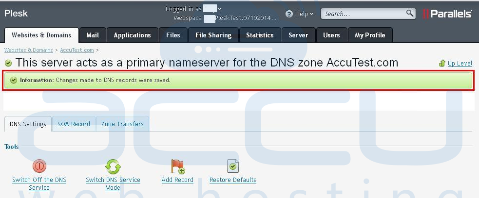DNS Changes Updated