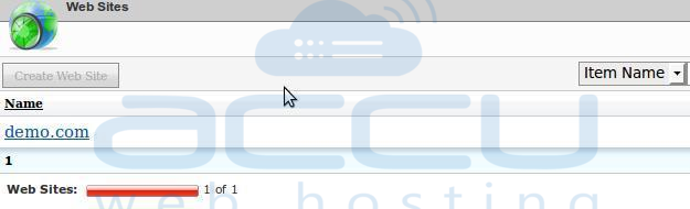 Select Particular Website for Which You Need to Add MIME Type