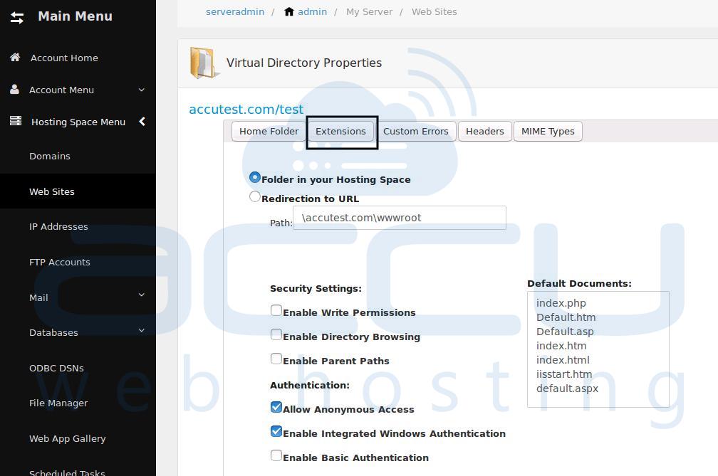 Virtual Directory Properties