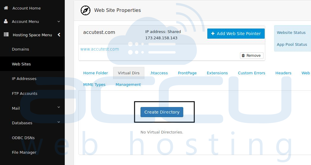 Website Properties