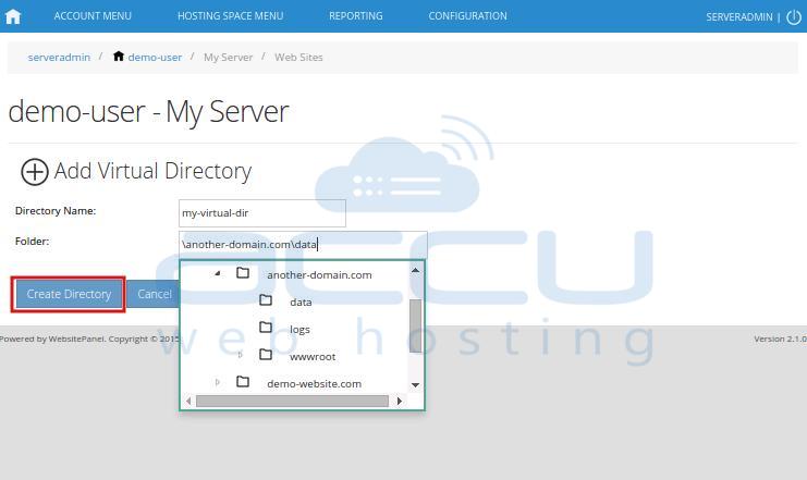 Add Virtual Directory