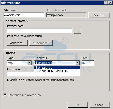 Select IP Address