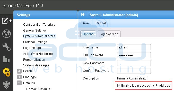 Enable Login Access by IP Address