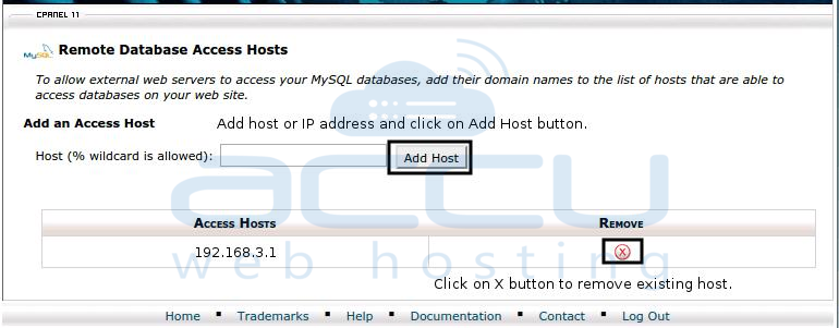 Remote Database Access Hosts