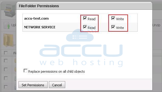 Assign Desired Permissions to a Folder/File