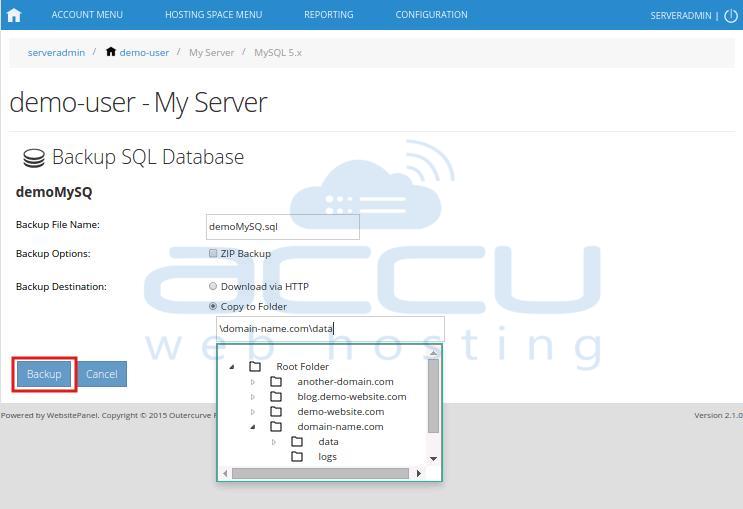 Backup Database