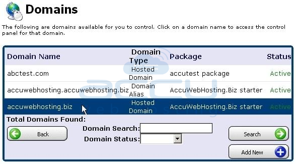 Select a Domain for which You Need to Change .Net Version