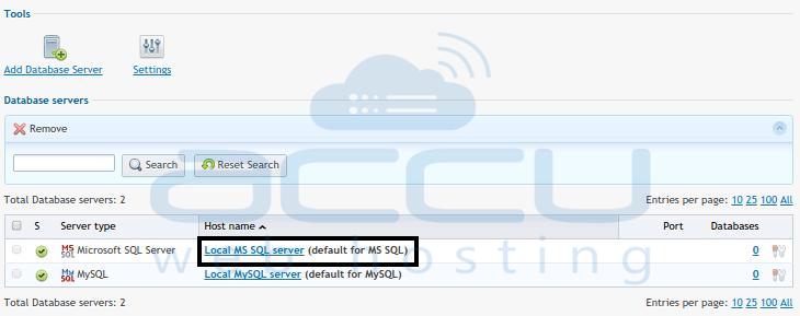 Database Server List