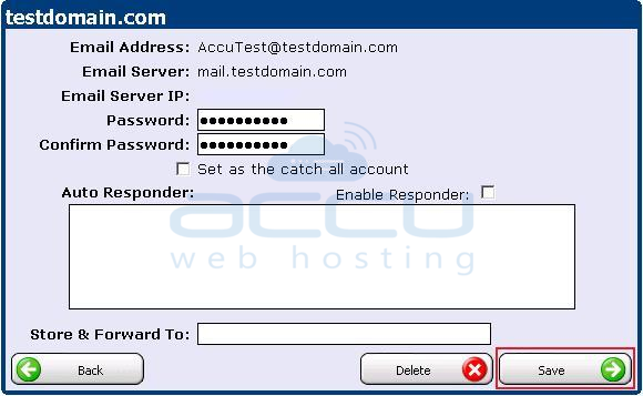Set New Password for the Email Account