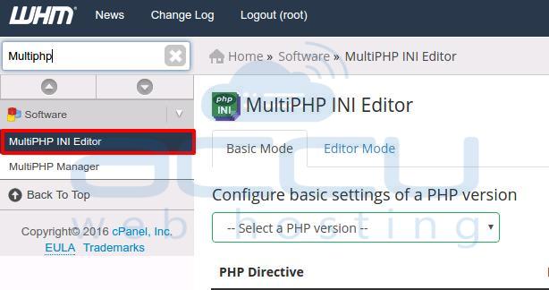 Multi PHPINI Editor