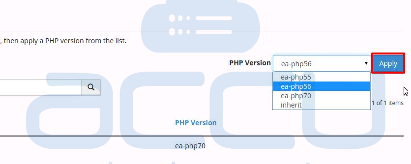 PHP Version Selection