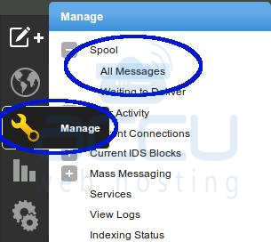 Select Manage Tab and Go to Spool > All Messages