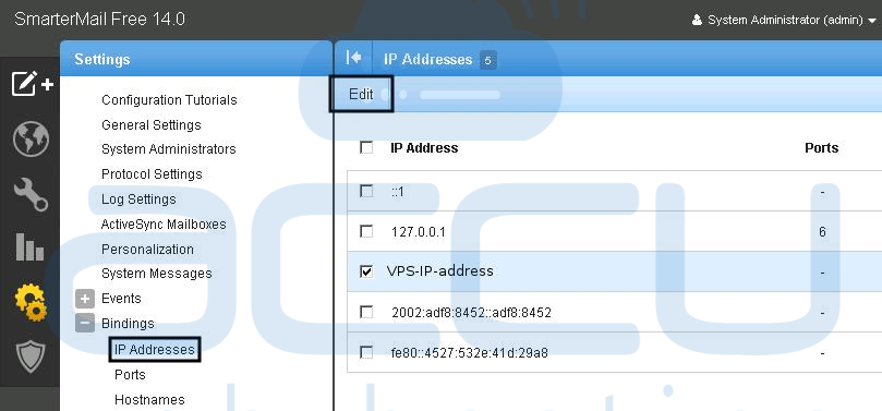 Binding IP Address