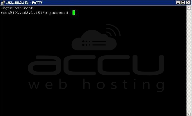 Provide Root User's Password for SSH Connection through Putty