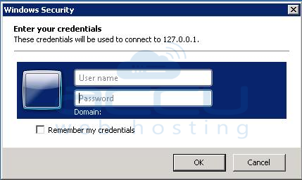 Enter Username and Password to Connect to VPS