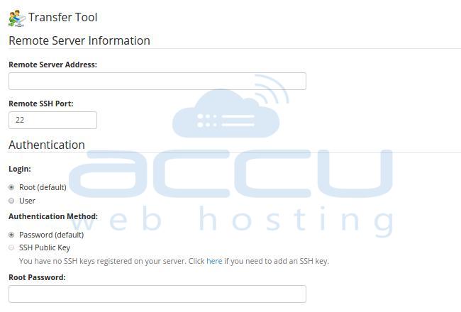 Remote Server Information