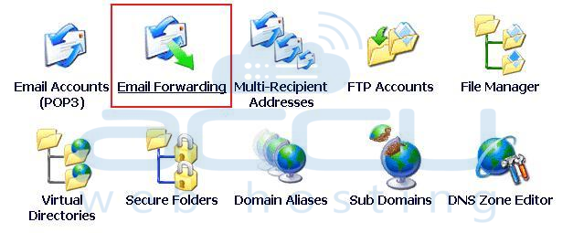 Select Email Forwarding Option