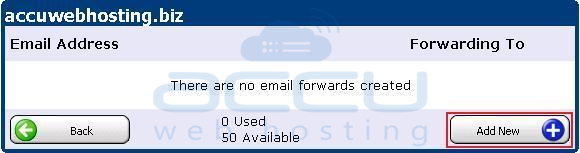 Add a New Email Forwarding
