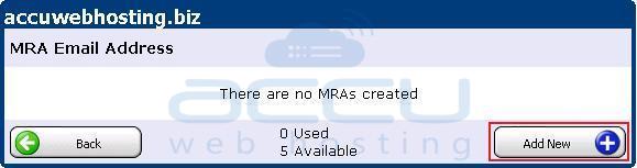 Add a New MRA