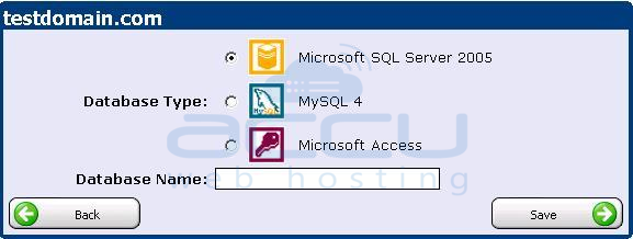 Select Database Type as MSSQL