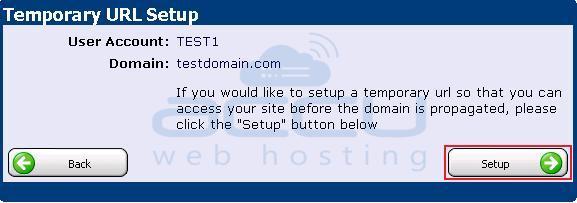 Temporary URL Set up