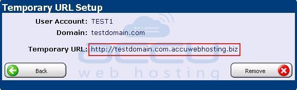 Verify Your Temporary URL