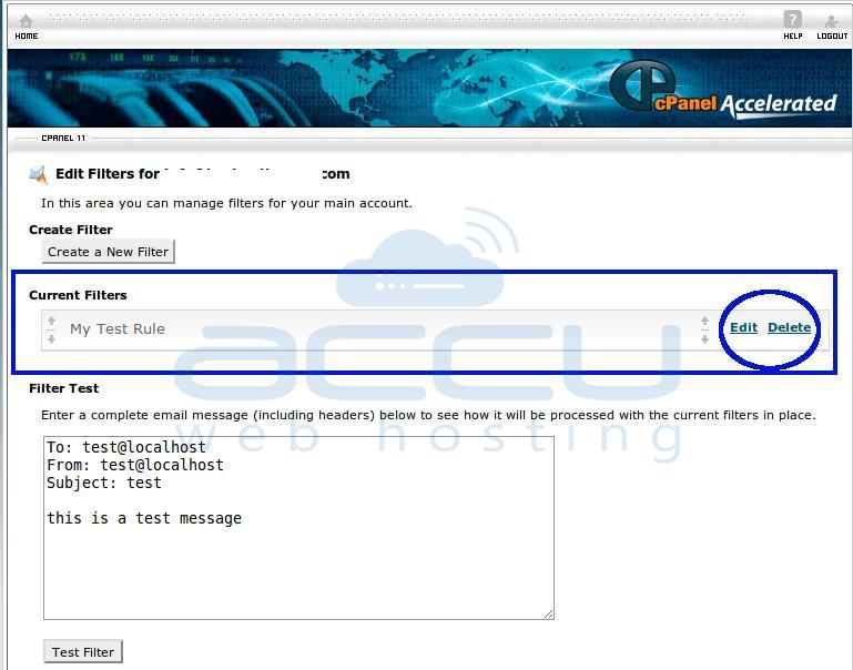 Edit or Delete User Level Filter