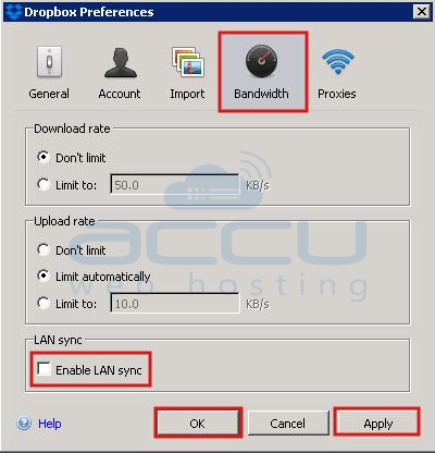 Disable LAN Sync