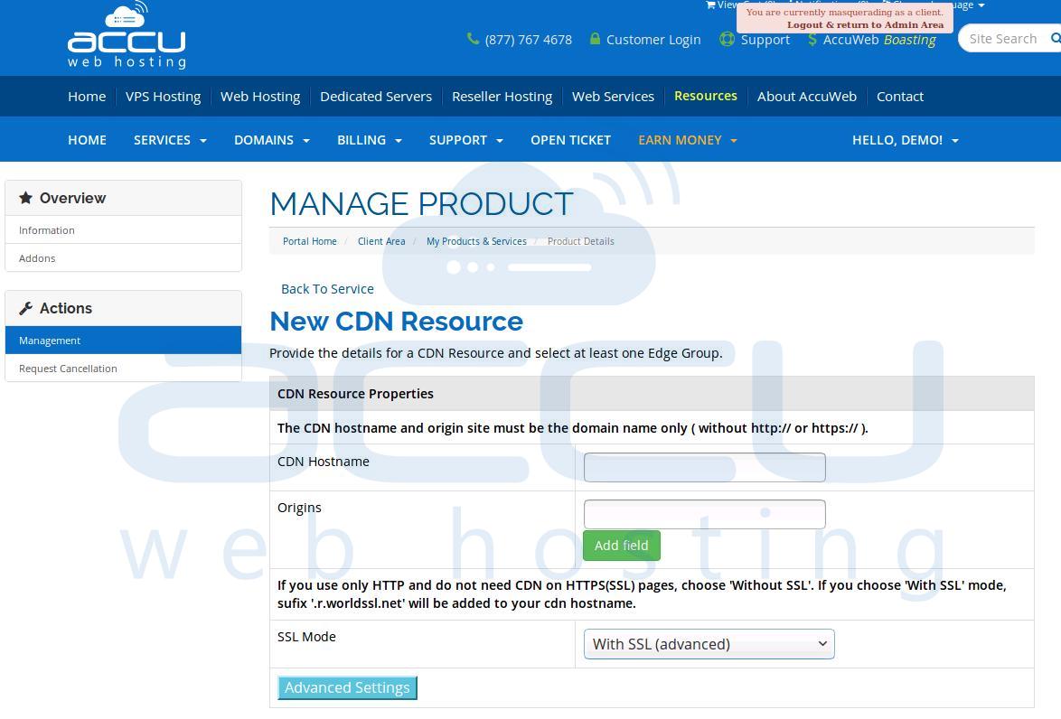 CDN Resource Properties