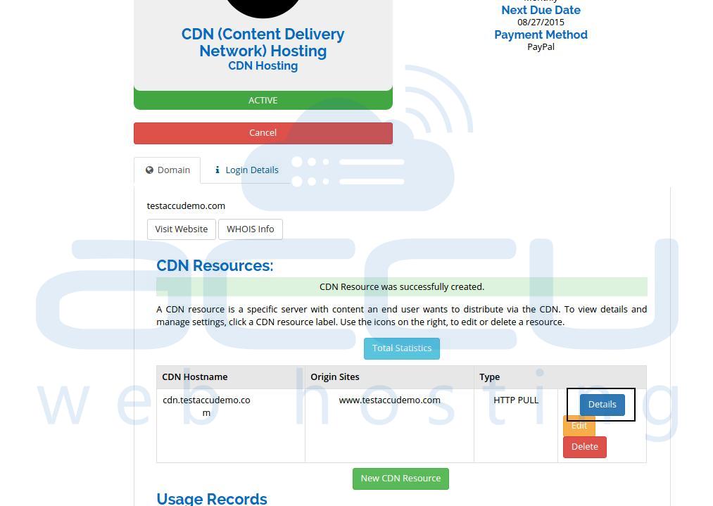 View CDN Details