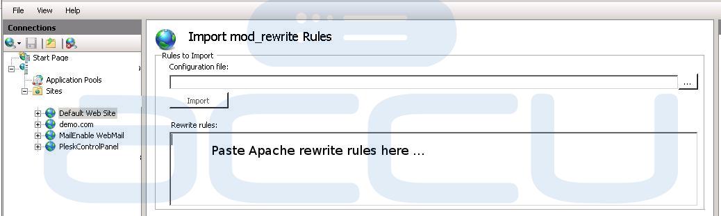 Import mod-rewrite Rules