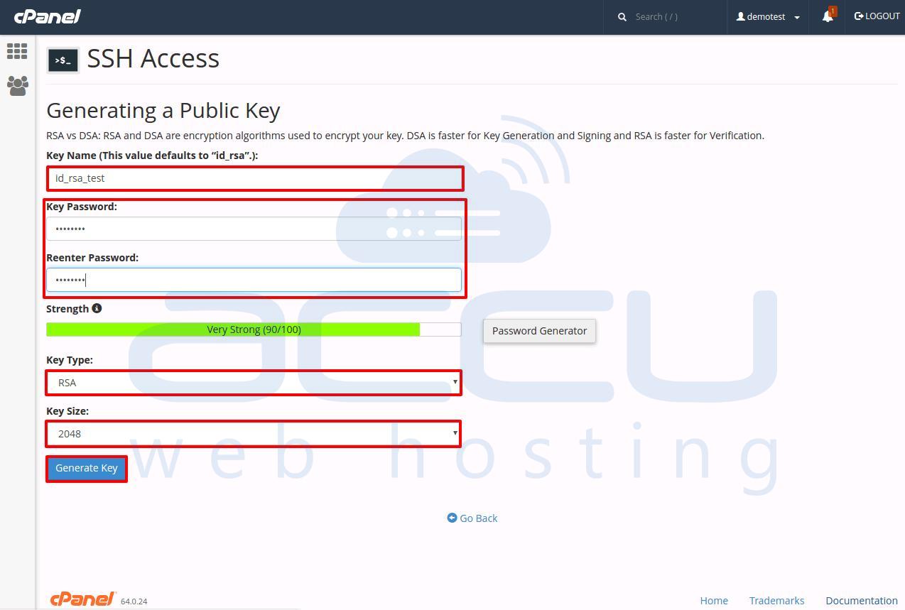 SSH Keys Information