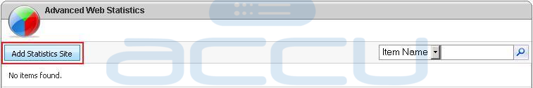 Click on Add Statistics Site Button