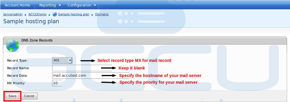 "Add New ""MX"" Record for Your Domain"