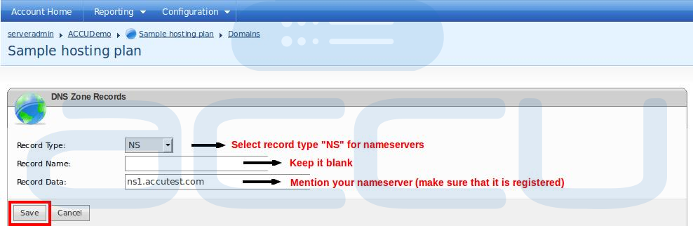 "Add New ""NS"" Records for Your Domain"
