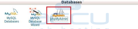 Select phpMyAdmin Option from cPanel