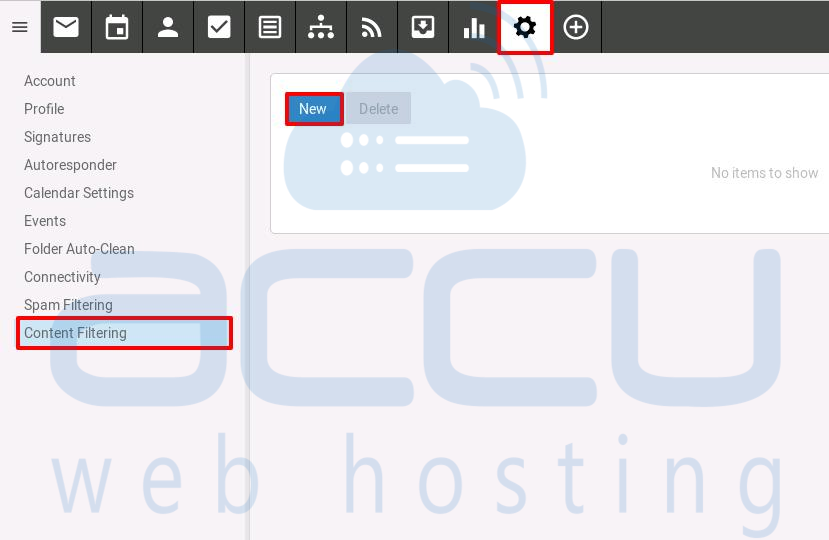 01-click-on-Content Filtering