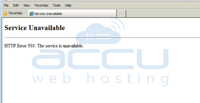 HTTP Error 503 Service Unavailable