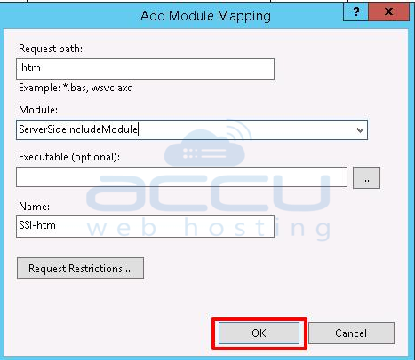add handler in IIS