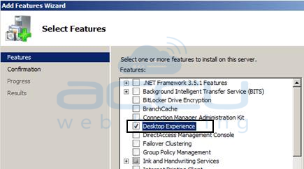 Add Desktop Experience Windows Server 2008