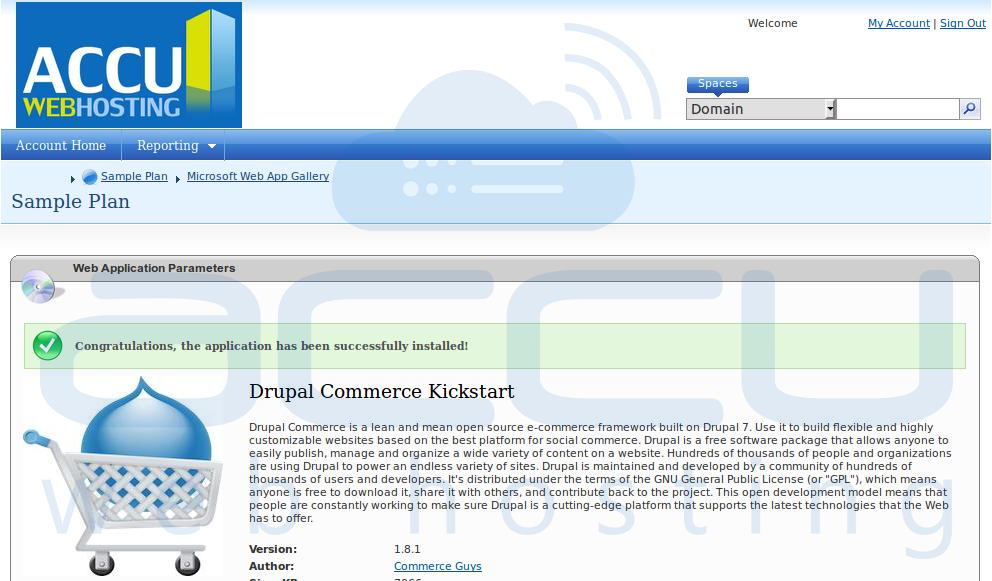 Successful Installation of Drupal