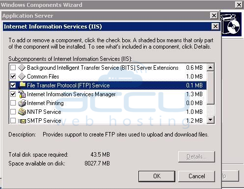 Select File Transfer Protocol (FTP) Service