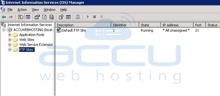 Verify FTP Sites Created in IIS